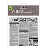 Hero Arts Clear Stamps 6x6 Newspaper Bold Prints