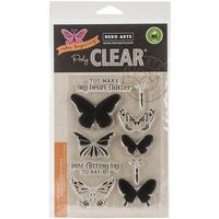 Hero Arts Clear Stamps Color Layering Butterflies