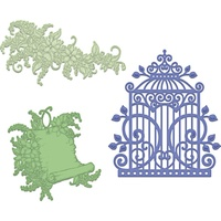 Heartfelt Creations Cut & Emboss Die Sweet Lilac Scroll and Cage