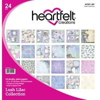 Heartfelt Creations Double-Sided Paper Pad 12X12 24/Pkg Lush Lilac