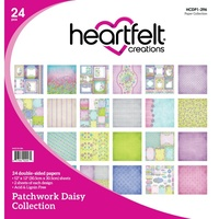 Heartfelt Creations Double-Sided Paper Pad 12X12 24/Pkg Patchwork Daisy