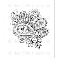 Heartfelt Creations Cling Stamps Peacock Paisley