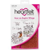 Heartfelt Creations Cling Stamps Soar on Eagle's Wings