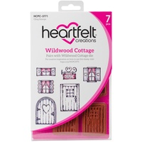 Heartfelt Creations Cling Stamps Wildwood Cottage