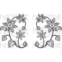 Heartfelt Creations Cling Rubber Stamp Set Patchwork Daisy