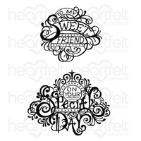 Heartfelt Creations Cling Stamps Fancy Special Day