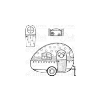 Heartfelt Creations Cling Stamps Happy Camper