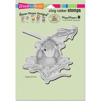 Stampendous Cling Rubber Stamps Grasshopper Leap