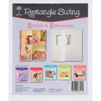 Hot Off The Press Die-Cut Cards with Envelopes 5/Pkg Rectangle Swing