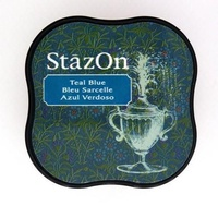StazOn Craft Ink Pad Midi Teal Blue