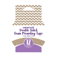 Papercraft Heavy Duty Foam Mounting Tape 12mm x 4m Roll