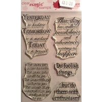 Woodware Clear Stamps Inspirational Verses