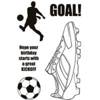 Woodware Clear Stamps Football Boot Soccer