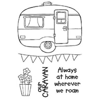 Woodware Clear Stamps Caravan