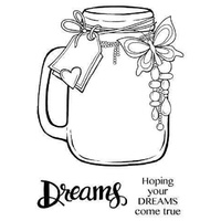 Woodware Clear Stamps Jar Of Dreams