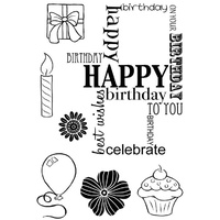 Woodware Clear Stamps Birthday Grid