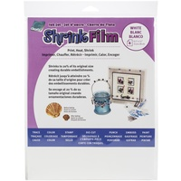 Grafix Ink Jet White Shrink Film 8.5x11 6/Pkg
