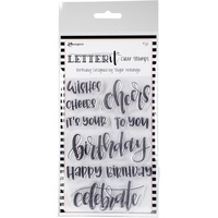 Ranger Letter It Clear Stamp Set 4x6 Birthday