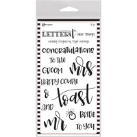 Ranger Letter It Clear Stamp Set 4x6 Wedding