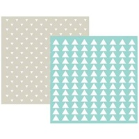 We R Memory Keepers 6 x 6 Embossing Folders 2PK Triangle