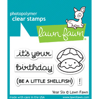 Lawn Fawn Stamps Year Six LF1050