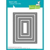 Lawn Fawn Cuts Stitched Rectangle Frames Die LF1142