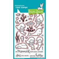 Lawn Fawn Mermaid For You Stamp+Die Bundle