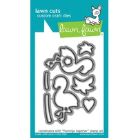 Lawn Fawn Cuts Flamingo Together Dies LF1174
