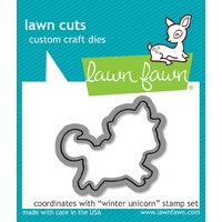 Lawn Fawn Cuts Winter Unicorn LF1219