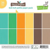 Lawn Fawn Petite Paper Pack 6x6  Knock On Wood LF1513