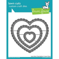 Lawn Fawn Cuts Lacy Heart Stackables Dies LF1562