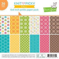 Lawn Fawn Petite Paper Pack 6x6 Knit Picky Fall LF1732