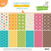 Lawn Fawn 12 x12 Double-Sided Knit Picky Fall Collection Pack LF1733