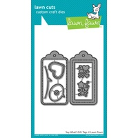 Lawn Fawn Cuts Say What? Gift Tags Die LF1780