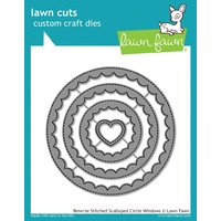 Lawn Fawn Cuts Reverse Stitched Scalloped Die LF1801