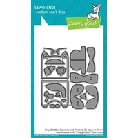 Lawn Fawn Cuts Tiny Gift Box Raccoon And Fox Add-on LF1826