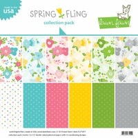 Lawn Fawn 12 x12 Double-Sided Spring Fling Paper Pad
