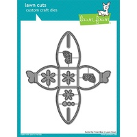 Lawn Fawn Cuts Butterfly Treat Box Dies LF1905