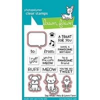 Lawn Fawn Say What? Pets Stamp+Die Bundle