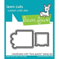 Lawn Fawn Cuts Love Poems Dies LF2168