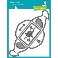 Lawn Fawn Cuts Gift Card Heart Envelope Die LF2472