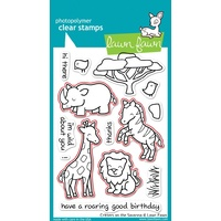 Lawn Fawn Critters On The Savanna Stamp+Die Bundle