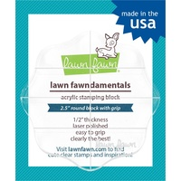 Lawn Fawn Acrylic Stamping Block 2.5 Inch Round Grip Block with Grid