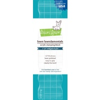Lawn Fawn Acrylic Stamping Block 2x8 Inch Grip Block with Grid