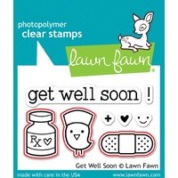 Lawn Fawn Get Well Soon Stamp+Die Bundle