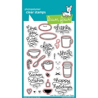 Lawn Fawn Love You A Latte Stamp+Die Bundle