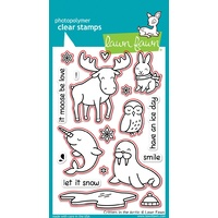 Lawn Fawn Critters In The Arctic Stamp+Die Bundle