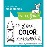 Lawn Fawn Stamps Color My World LF793