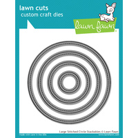 Lawn Fawn Cuts Large Stitched Circle Stackables Dies LF795