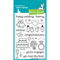 Lawn Fawn Stamps Happy Wedding LF887